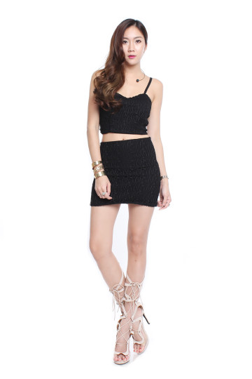 NASHVILLE CITY SKIRT (BLACK) image