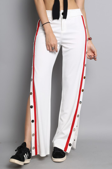 STARTED FROM THE BOTTOM TRACK PANTS (WHITE) (PREMIUM) (BACKORDER) image