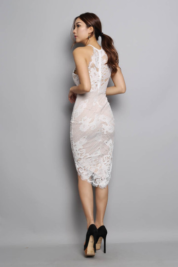 LACE FOR NIGHTS DRESS (WHITE) (PREMIUM) image