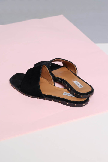 PURR SUEDE SLIDERS image