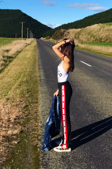STARTED FROM THE BOTTOM TRACK PANTS (BLACK) (PREMIUM) image