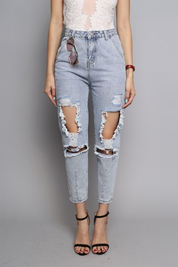 ROCKVILLE DISTRESSED BOYFRIEND JEANS image