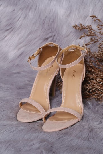 ISABEL BASIC STRAPPY HEELS (NUDE) (PREORDER) image