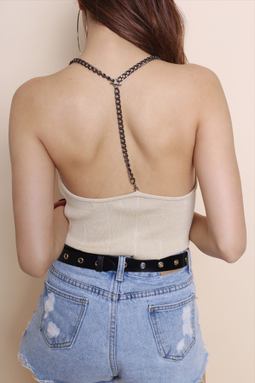 T-CHAIN TOP (CREAM) image