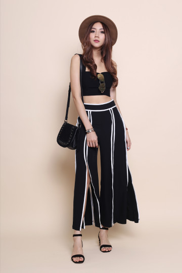 BACK ON TRACK SLIT PANTS image