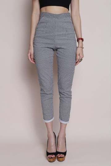 HOUNDSTOOTH CIGARETTE PANTS image
