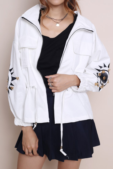 LAND OF RISING SUN PARKA (WHITE) image