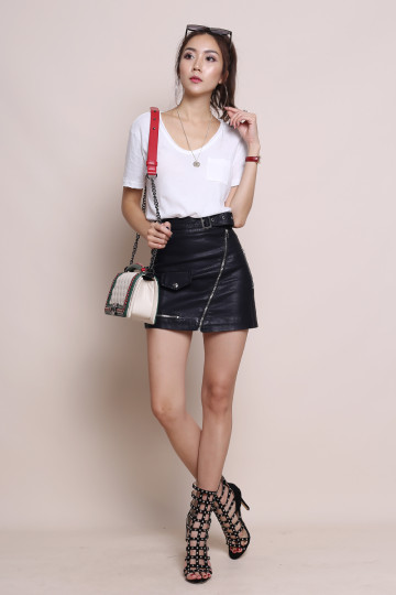 OLSEN EVERYDAY LEATHER SKIRT (PREMIUM) (BACKORDER) image