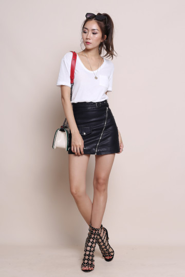 OLSEN EVERYDAY LEATHER SKIRT (PREMIUM) image