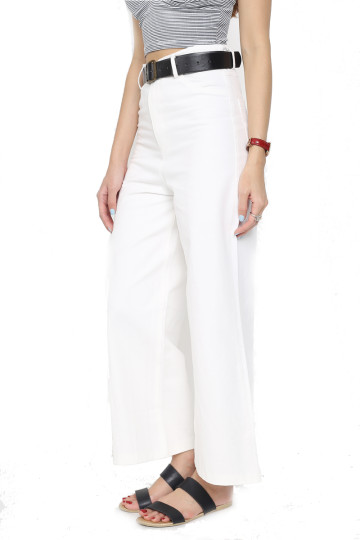 GET IT STRAIGHT CARGO PANTS (WHITE) (PREMIUM) image