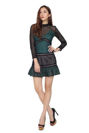 NELLIE CAGED DRESS (PREMIUM) (BACKORDER) image