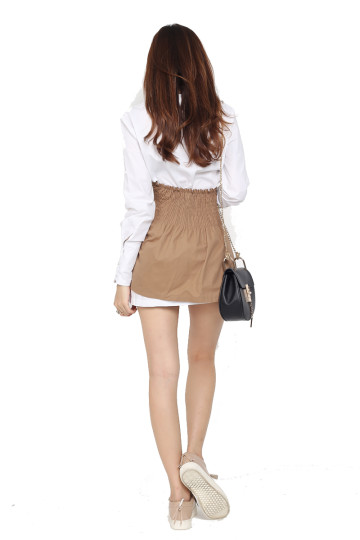 SKIRT-OVER TO LONDON TRENCH (KHAKI) image