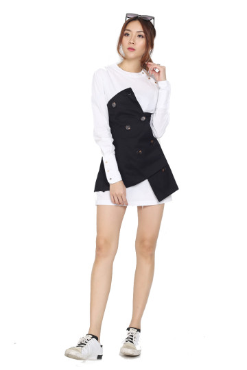 SKIRT-OVER TO LONDON TRENCH (BLACK) image