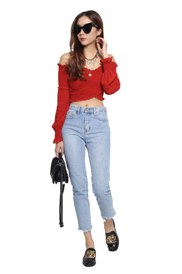 FADED LOVE CUT-OFFS DENIM JEANS image
