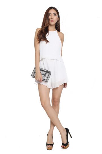 ZANELLE PLEATED ROMPER image