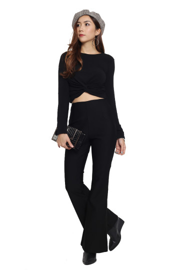 FLARE IT UP PANTS (BLACK) image