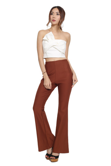 FLARE IT UP PANTS (CINNAMON) image