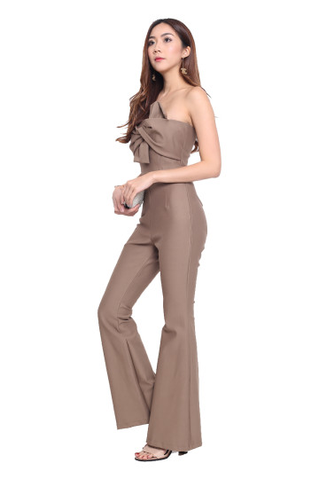 FLARE IT UP PANTS (TAUPE) image