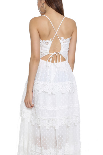 RUE DE PARIS LACE DRESS (WHITE) (BACKORDER) image