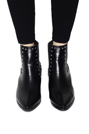 LAURENT ANKLE BOOTS (BLACK) (BACKORDER) image