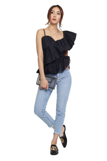 PRETTY PLEATS PLEASE TOP (BLACK) image