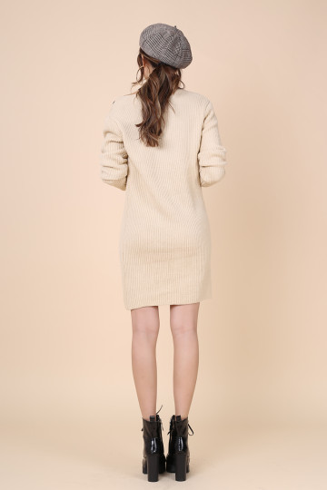 KEEP WARM KNITTED CARDIGAN (CREAM) (PREMIUM) image