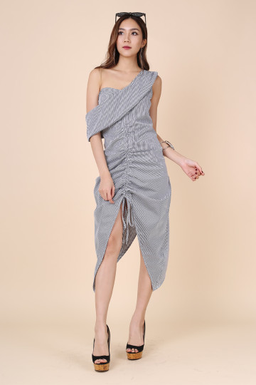 TOGA & FLAT WHITE KINDA DRESS (BLACK STRIPE) (THE JUICE MARKET LABEL) image