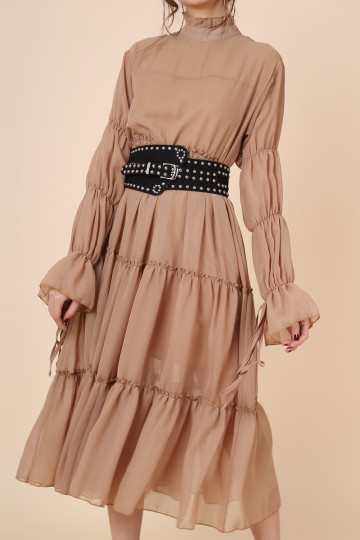 KHALEESI WARRIOR DRESS (HONEY BROWN) (PREMIUM) image