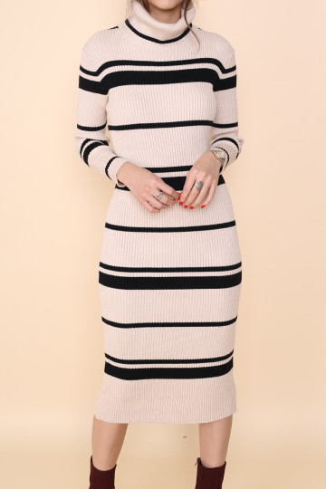ZOELLA 2-WAY KNITTED DRESS (CREAM) (PREMIUM) image