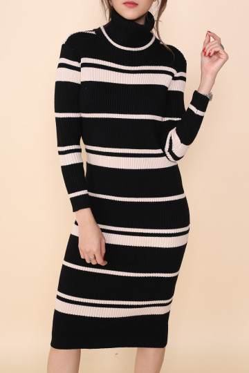 ZOELLA 2-WAY KNITTED DRESS (BLACK) (PREMIUM) image