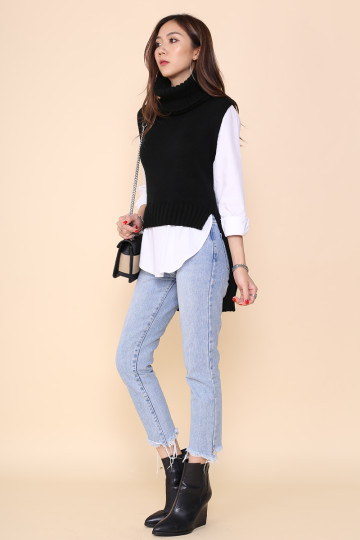 ANNETTE TURTLE NECK SHIRT (BLACK)*STAR PICK* image