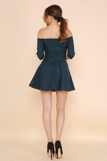 STRAP UP ROMPER (FOREST GREEN) image