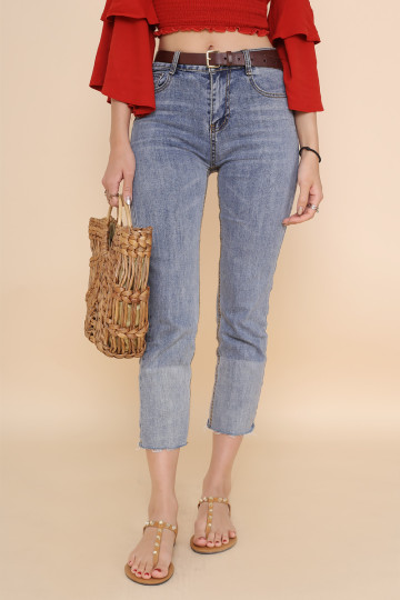OLSEN SISTERS DOU-TONE JEANS image