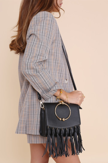 SAHARA FRINGE BAG (BLACK) image
