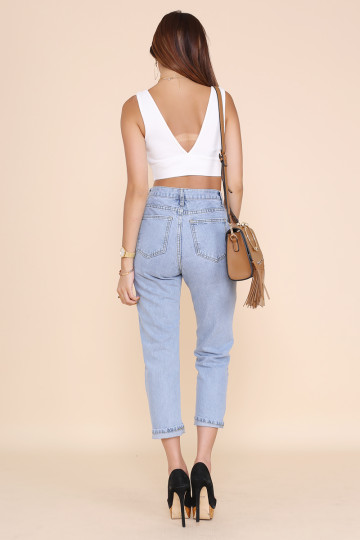 THE HADID HIGHWAIST JEANS (PREMIUM) image