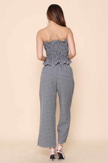 CHECKMATE 2-PIECE PANTS SET (BLACK) image