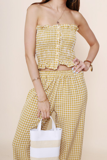 CHECKMATE 2-PIECE PANTS SET (TORTILLA) image