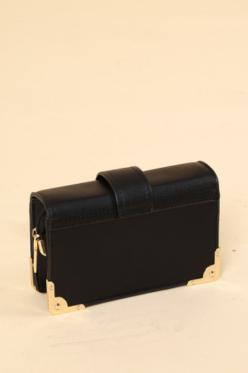 CAROLINA BOX CLUTCH (BLACK)(PREORDER) image