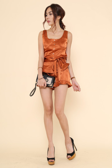 MURIEL METALLIC 2-PIECE SET (BURNT ORANGE) (PREMIUM) image
