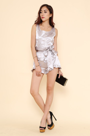 MURIEL METALLIC 2-PIECE SET (PLATINUM GREY) (PREMIUM) image