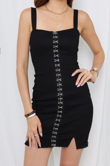 HOOK ME UP DRESS (BLACK)(PREMIUM) image