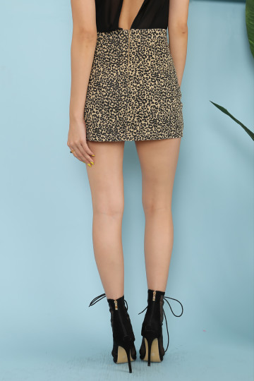KATE MOSS LEOPARD SKIRT (BROWN) image