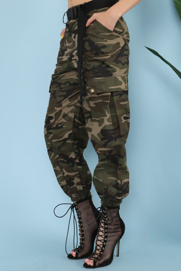 CAMOU CARGO PANTS image