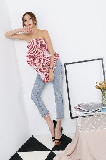 PLEATS PLEASE TOP (RED)(PREMIUM) image