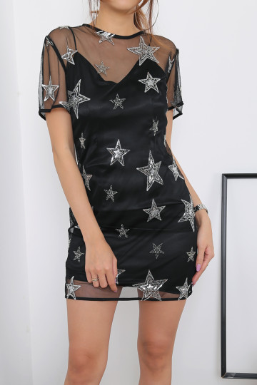 STARSTRUCK DRESS (BLACK)(PREMIUM) image