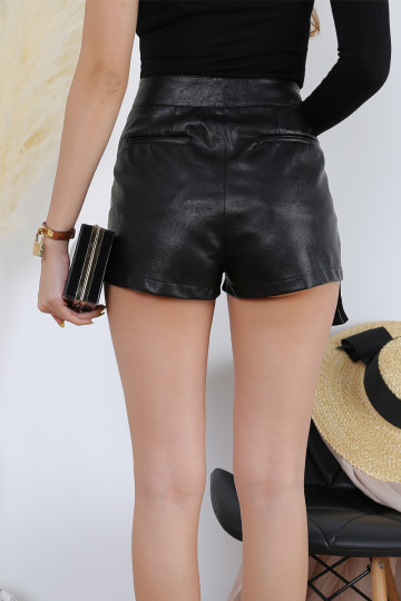VIRCA POCKET LEATHER SHORTS (PREMIUM) image