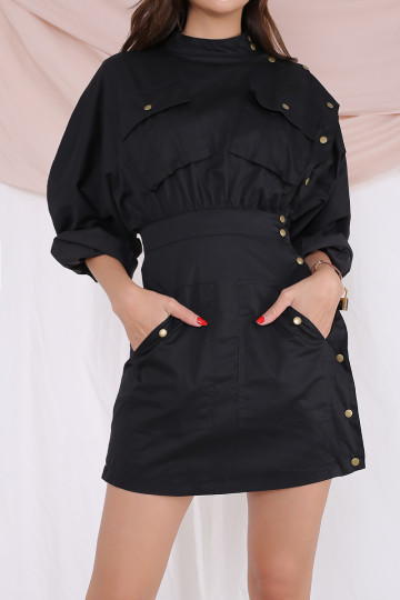MILITARY SIDE BUTTONED DRESS (PREMIUM) image