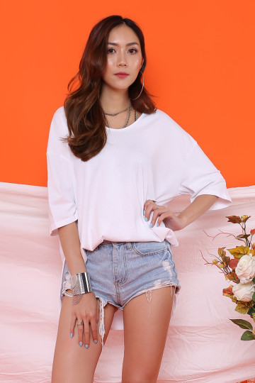 ASHLEY BASIC OVERSIZED T-SHIRT (WHITE)(BACKORDER) image
