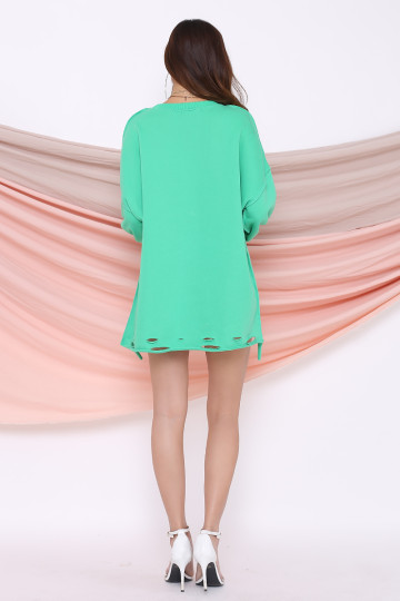 JETSET RIPPED SWEATER (GREEN) image