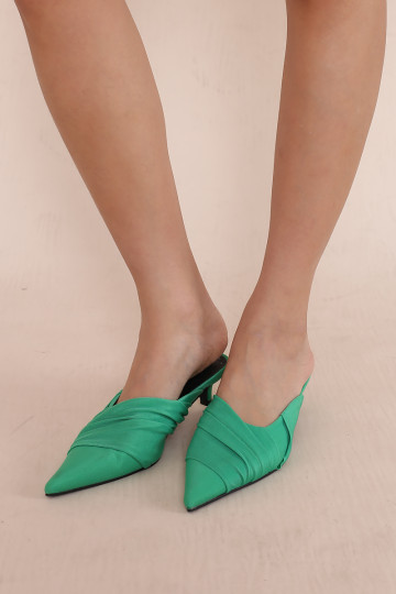KENDY TIMELESS HEEL SLIP ONS (GREEN)(BACKORDER) image